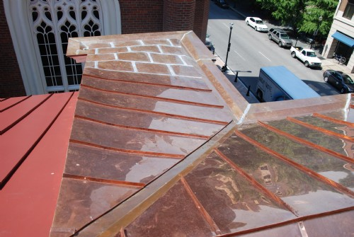 16 oz. double locked standing seam roof