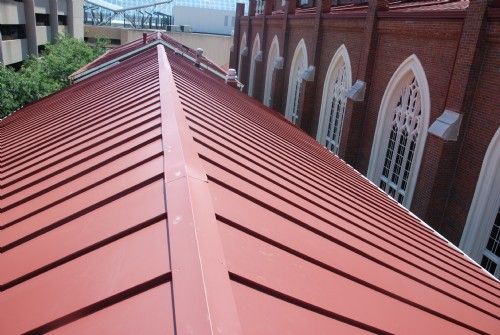 24-gauge prefinished steel standing seam roof